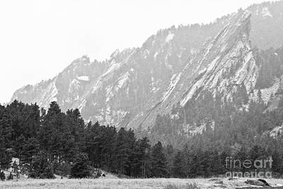 Photograph - Flatiron In Black And White Boulder Colorado by James BO Insogna