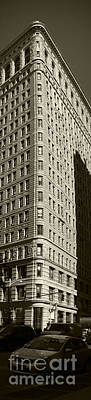 Flatiron In Sepia Art Print by David Bearden