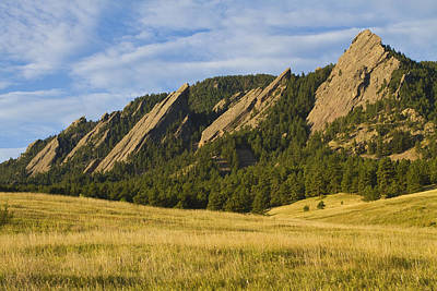 Photograph - Flatiron Morning Light Boulder Colorado by James BO Insogna