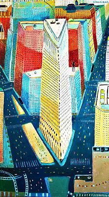 Flatiron Of Manhattan Original by Habib Ayat