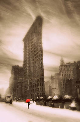 Traffic Light Photograph - Flatiron On Fifth by Jessica Jenney