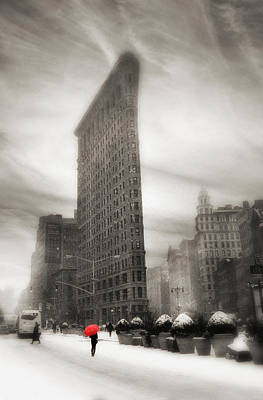 Flatiron Winter   Art Print by Jessica Jenney