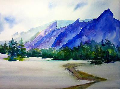 Painting - Flatirons Boulder Colorado by Cynthia Roudebush