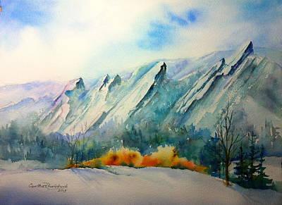 Painting - Flatirons by Cynthia Roudebush