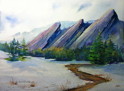 Painting - Flatirons In Colorado by Cynthia Roudebush