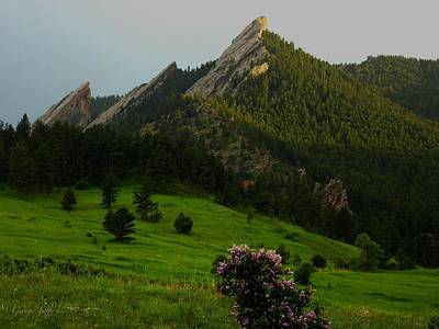 Photograph - Flatirons Spring Evening by George Tuffy