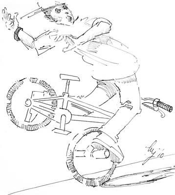 Drawing - Flatlander Drawing by Mike Jory