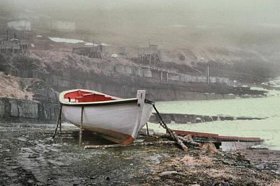 Flatrock Boat In Winter Art Print
