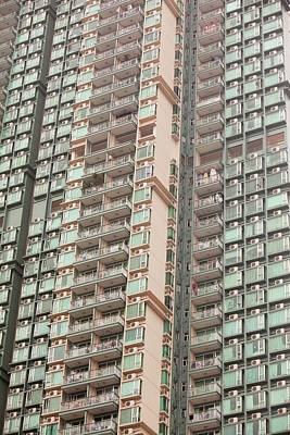 Flats In Kowloon Art Print by Ashley Cooper