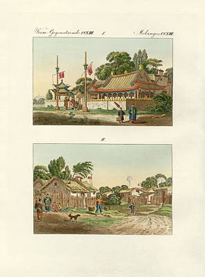Mandarin Drawing - Flats Of The Chinese by Splendid Art Prints