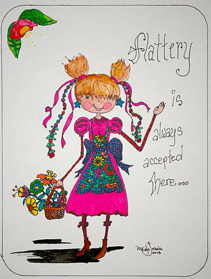 Drawing - Flattery by Mary Kay De Jesus