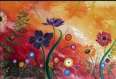 Yasmin Modi Painting - Flaunting by Yasmin  Modi