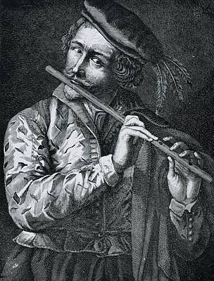 Flute Art Photograph - Flautist Lucas Vorsterman, The Old by Everett