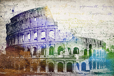 Europe Mixed Media - Flavian Amphitheatre by Aged Pixel
