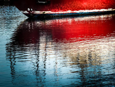 Red Boat Serenity Art Print