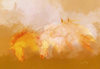 Painting - Flaxen Manes by Valerie Anne Kelly