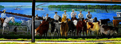 Florida Cracker Photograph - Florida Crackers Mural Pano by David Lee Thompson