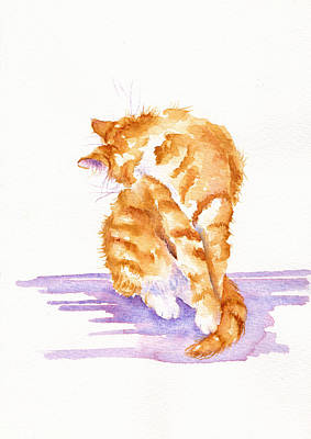 Licking Painting - Flea Magnet by Debra Hall