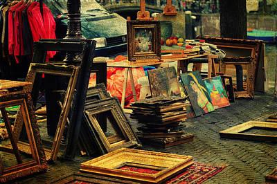 Flea Market. Amsterdam Art Print by Jenny Rainbow