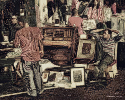 Digital Art - Flea Market by Pedro L Gili