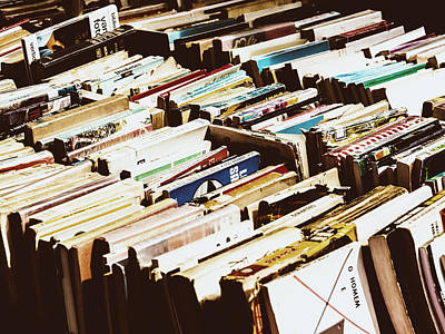 Bookshop Photograph - Flea Market Series - Books by Marco Oliveira