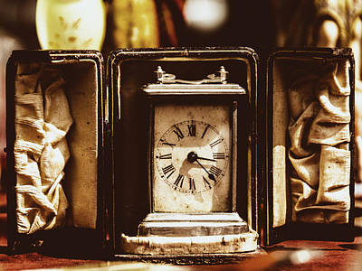 Photograph - Flea Market Series - Clock by Marco Oliveira