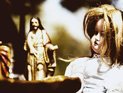 Photograph - Flea Market Series - Doll And Jesus by Marco Oliveira