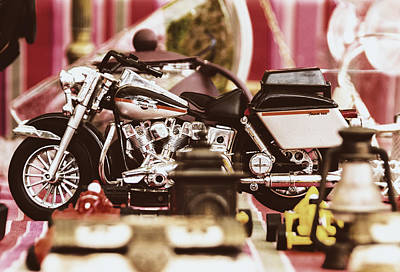 Photograph - Flea Market Series - Motorcycle by Marco Oliveira