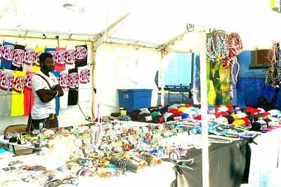 Photograph - Flea Market Vendor by Marianne Dow