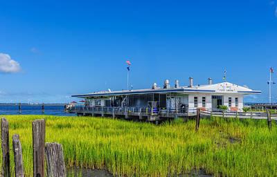 Photograph - Fleet Landing - Charleston by Frank J Benz