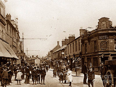 Fleet Street Swindon England Print by The Keasbury-Gordon Photograph Archive