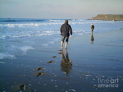 Photograph - Fleeting Footprints by Richard Brookes