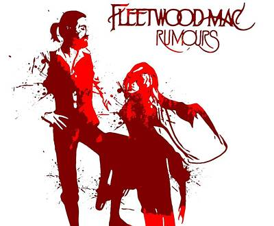 Musicians Digital Art Rights Managed Images - Fleetwood Mac Rumours Royalty-Free Image by Dan Sproul