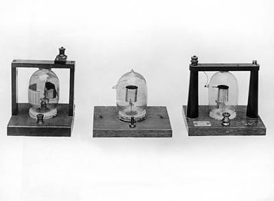Photograph - Fleming's First Vacuum Tube by Underwood Archives