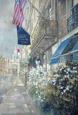 Perspective Painting - Flemings Hotel, Half Moon Street, London by Peter Miller