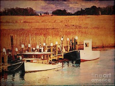Wetlands Digital Art - Flemings Landing Delaware by Lianne Schneider