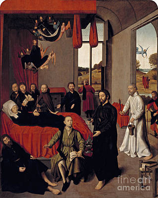 Flemish Death Of The Virgin Art Print by Celestial Images