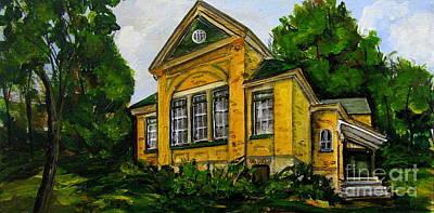 Flesherton Old School Art Print by Jennifer Stenberg