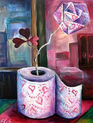 Fleur D Orange With Love And Squalor Art Print by Elisheva Nesis