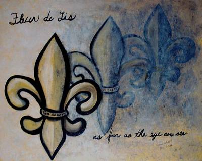 Painting - Fleur De Lis As Far As The Eye Can See by June Holwell