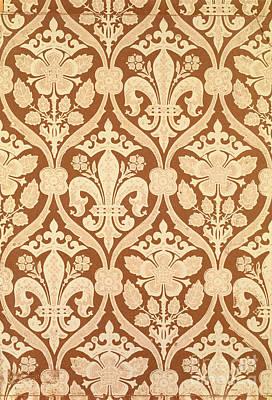 Fleur De Lis Tapestry - Textile - Fleur-de-lis by Augustus Welby Pugin
