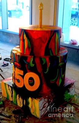 Painting - Fleur De Lis Cake by Genevieve Esson
