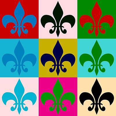 Fleur De Lis Digital Art - Fleur-de-lis Collage by Dan Sproul
