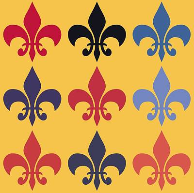 Quarters Mixed Media - Fleur-de-lis by Dan Sproul