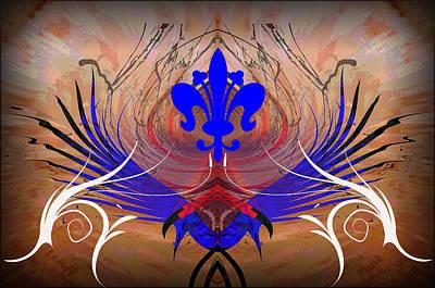 Digital Art - Fleur De Lis by Michael Damiani