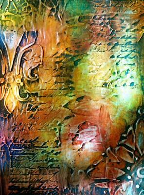 State Love Nancy Ingersoll - Fleur de Lis Rainbow Painting by Laura Carter