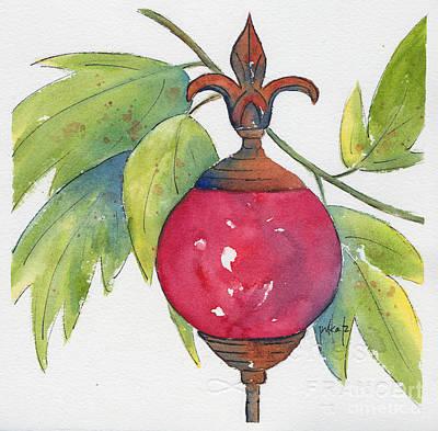 Painting - Fleur-de-lis Rouge by Pat Katz