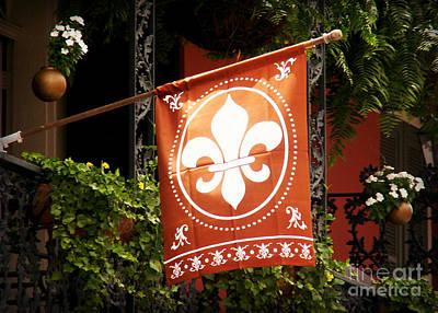 Photograph - Fleur De Lis Flag by Valerie Reeves