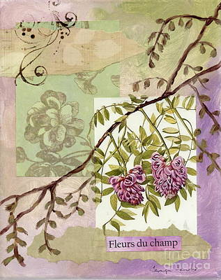 Fleurs Du Champ Art Print by Tamyra Crossley