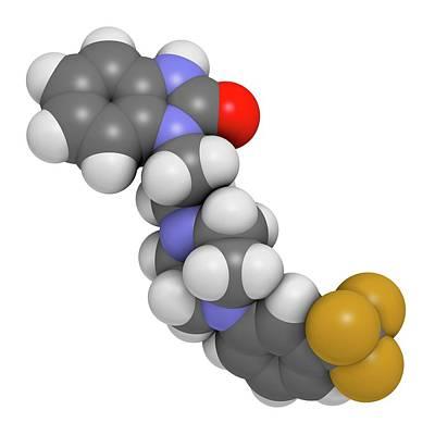 Flibanserin Sexual Desire Drug Molecule Art Print by Molekuul